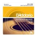 D'ADDARIO EJ19 стр. для акуст. гит., фосфор/бронза, Bluegrass, 12-56
