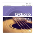 D'ADDARIO EJ26 стр. для акуст. гит., фосфор/бронза, Custom Light, 11-52