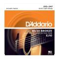 D'ADDARIO EJ10 - стр. для акуст. гит., бронза Extra Light - 10-47