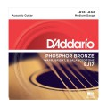 D'ADDARIO EJ17 стр. для акуст. гит., фосфор/бронза, Medium, 13-56