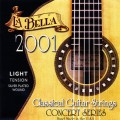 LA BELLA 2001 Light - струны для классической гитары - нейлон/обм. серебро/натяж.35,20 кг