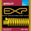 D'ADDARIO EXP11 стр. для ак. гит. бронза 80/20 в обол., Light 12-53