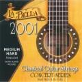 LA BELLA 2001 Medium Hard - струны - нейлон/обмотка серебро/сум.натяж. 36,35 кг