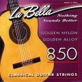 """LA BELLA 850 - струны - """"золотой"""" нейлон, обмотка - золото, натяж -37,75 кг"""