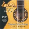 LA BELLA 2001 Extra Hard - струны для классической гитары - нейлон/обмотка серебро/сум.натяж. 41,25 к