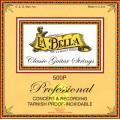 LA BELLA 500P Recording Concert - струны - белый нейлон, плоская обмотка нержав.сталь, натяж - 38,4 кг