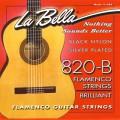 LA BELLA 820B Flamenco - струны - черный нейлон, обмотка серебро